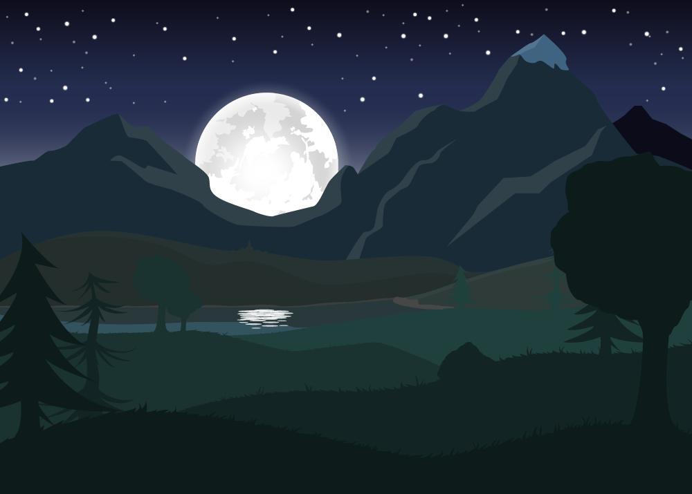 Scene nuit Wolfy